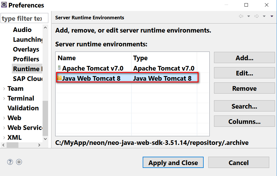 Developing Java applications using Eclipse and deploying them to SCP